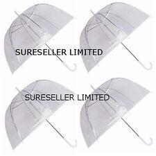 Set of 20 Rain Umbrellas Dome Birdcage Clear Transparent PVC Plastic Wedding
