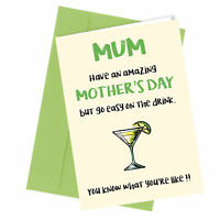 #123 MOTHERS DAY CARD MUM Comedy Rude Greetings Card Funny Humour Love Cheeky
