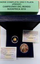 ESPAÑA SERIE COMPLETA ORO  20€ Y PLATA 10€ CAMPEONES DEL MUNDO SUDAFRICA 2010