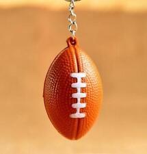 Creative Rugby Pendant Designed Keyring Keychain PU Foam Key Chain Gift