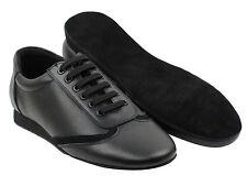 Men's ChaCha Black Leather Dance Shoes Salsa Latin Bachata Merengue  Very Fine
