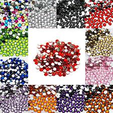 1000 Crystal Flat Back Acrylic Rhinestones Gems Diamond Wedding Party Table Red 1