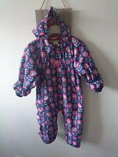 Jojo maman bebe baby girl snowsuit 12-18 months VGC