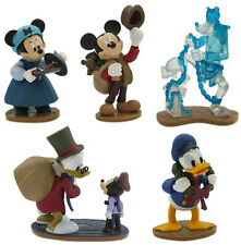 Official Disney Store Mickey Mouse Christmas Carol Story Figures Playset Set 5