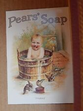 Postcard Advertising Pears soap Old Advert Modern card unposted