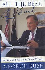 2XSIGNED George H W Bush + German V Chancellor Hans Genscher FALL OF BERLIN WALL