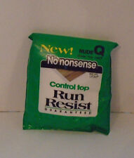 Vtg New No Nonsense Q NUDE Control Top Run Resist Pantyhose Sheer Toe H67 NOS