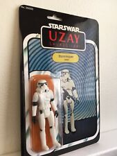 Star Wars Uzay StormTrooper Figure, On Custom Card, Vintage Style Repro