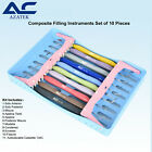 Dental Composite Filling and Restorative Instruments 10 pcs with Silicon Handle