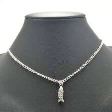 Koi Fish Necklace Sterling Silver Plated Chain Link Women's Jewelry