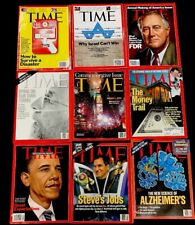 TIME MAGAZINE Lot - STEVE JOBS COVER - 1990s-2000s - New (9 Issues)