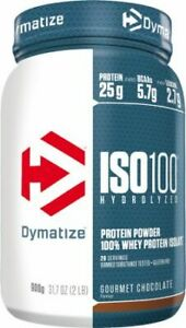 DYMATIZE Iso100 Hydrolyzed (Whey Protein Isolate) 900g FREE SHIPPING