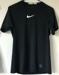 Nike Pro Combat Dri-Fit Fitted Men's S Black Gray Shirts Lot of 2: 424897 012