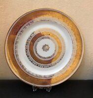 """Rare  Dinner plate H&C Selb Bavaria  Heinrich flowery gold 10"""" Diameter  25 cm"""