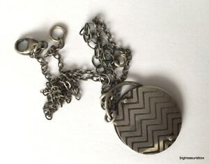 Vintage Necklace MARKED 925 STERLING SILVER Chain Modernist Pendant Jewelry lot