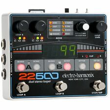 Electro-Harmonix 22500 Dual Stereo Looper Guitar Effects Pedal EHX XLR Mic Input