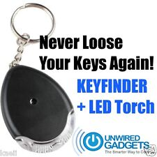 Compact Key Finder with LED Torch Wireless Lost Keys Gadget Smart Device Whistle