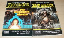 2 x John Sinclair Taschenbücher, Bastei-Verlag, 1. Auflage, Jason Dark