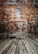 Retro Style Brick Wall Floor Photography Backdrop Brick Photo Background Cloth