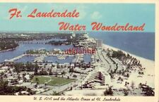 Ft. Lauderdale, Water Wonderland. U.S. A1A and the Atlantic Ocean view