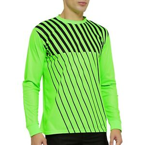 Long Sleeve Soccer Goalkeeper Jersey with Sponge Protector for Adult Youth