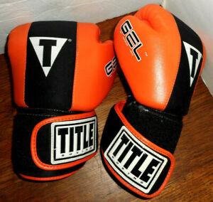 Title Boxing  Gloves Gel Enforced Lining  Size  M