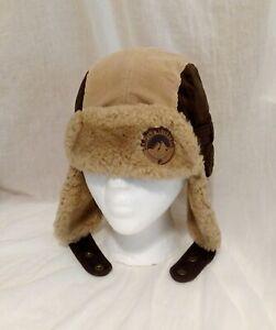 Fila Unisex Adult Tan Corduroy & Faux Fur Winter Trapper Camping Adventure Hat