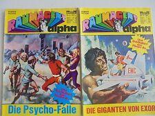 2x Comic Bastei - Raumagent Alpha Nr. 12 + 13 - Zustand 2-