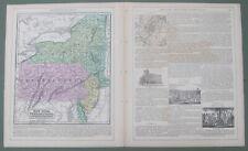 Mitchell 1854 Atlas pp 27-30 Map:New York,PA & NJ w/insert maps:NYC&Philadelphia