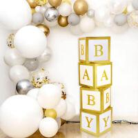 4X Gold BABY Transparent Boxes Storage Balloons Kids Birthday Baby Shower Decor