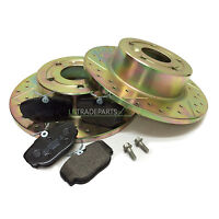 LAND ROVER DISCOVERY 2 TD5 & V8 NEW REAR PERFORMANCE BRAKE DISCS & PADS KIT, SET