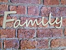 Wooden Family Sign- wall art decor rustic family decoration families sign