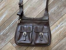 Longchamp Women Leather Shoulder Crossbody Bag Handbag Brown Rare