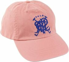 8628b4b5b73 Polo Ralph Lauren Baseball Cap Melon Blue Cross Mallets Logo Fabric Strap