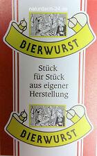 Kunstdarm, Kaliber 55/21, für Bierwurst, mit Druck, 25 Stück