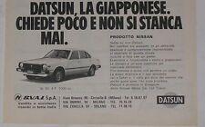 Advert Pubblicità 1980 DATSUN CHERRY N. 10 - 4 P.
