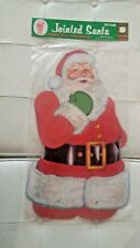 AUTHENTIC VINTAGE 1978 Beistle No. 22525  29 INCH JOINTED SANTA CUTOUT PACKAGED