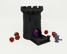 "Lighted 5"" Dice Tower, Castle, Dice Roller, DnD, Dungeons and Dragons-Purple"
