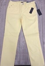 NYDJ Not Your Daughter's Jeans Sheri Slim Skinny Yellow Jeans Size: 8P Petite