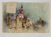 "Disneyland Hallmark Souvenir Print ""Sleeping Beauty Castle"" Postcard Postage Due"