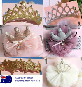 Girls Kids Headband Turban Crown Tiara baby shower newborn hairband bow party