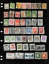 Greece: Nice 'Vintage' Stamp Collection Displayed On 5 Sheets . See Scans
