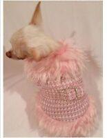 Dog Coat/Dog Jacket/Dog clothes/Faux Fur Fashionista Dog Coat/XS,S,M,L-FREE SHIP