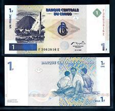 [95217] Congo DR 1997 1 Franc Bank Note UNC P85