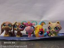 Littlest Pet Shop Postcard Pets Dogs Butterfly Angel Fish and Raccoon New