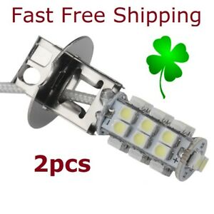 2pcs H3 Led Bulb Head Fog Light Daytime Running Lamps Xienon White 5630 SMD