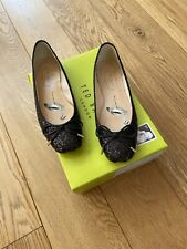 Ted Baker Ladies Flat Glitter Shoes Size 4 Worn Once