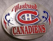 NHL Pewter Belt Buckle Montreal Canadiens NEW Siskiyou National Hockey League