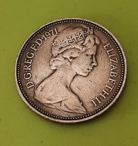 1971 2 p New Pence Coin (EXTREMELY RARE) Original old coin Vintage collectors