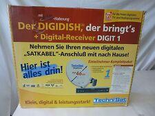 TechniSat DIGIDISH 46 mit LNB / Wandhalterung und DIGIT 1 Sat Receiver 10m Kabel